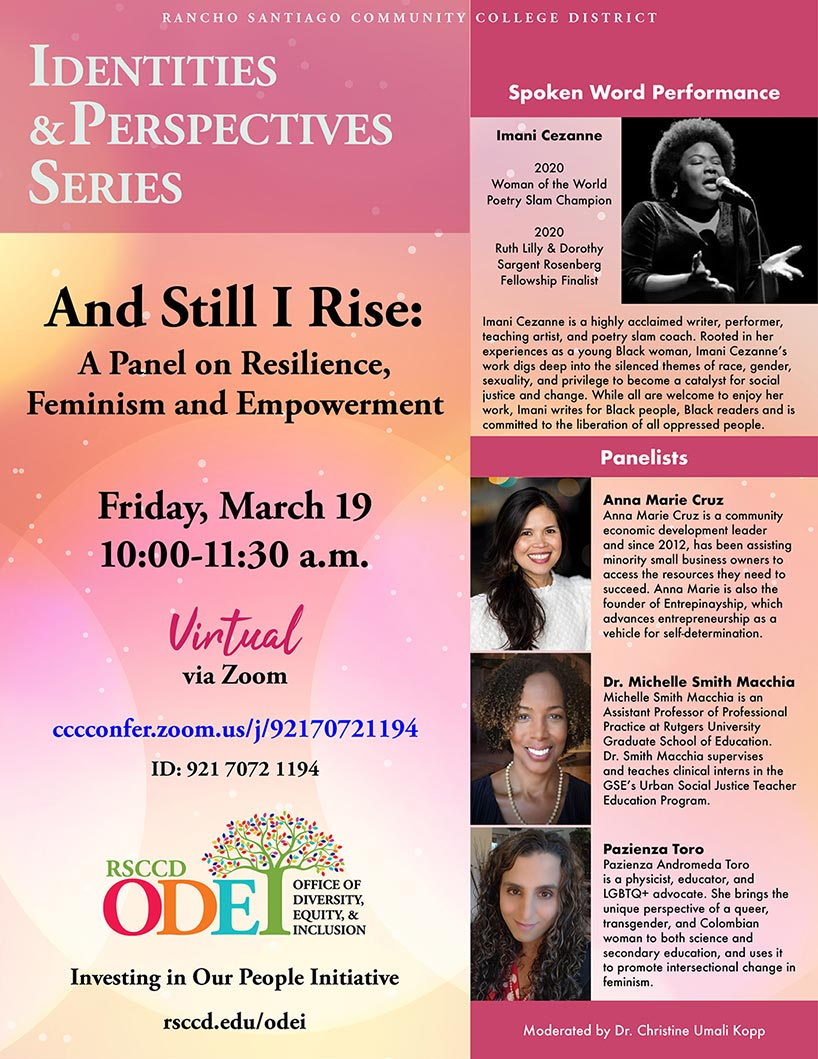Identities & Perspectives Series | And Still I Rise | March 19