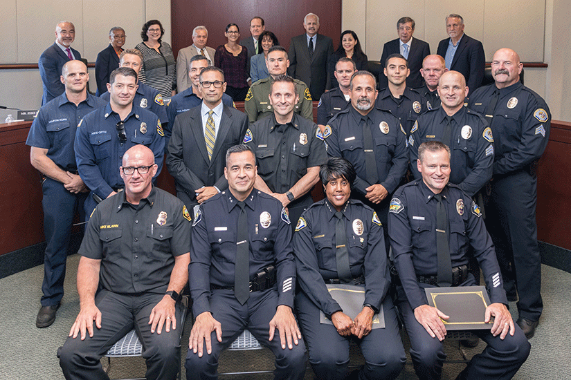 RSCCD Board of Trustees Recognize First Responders on September 10